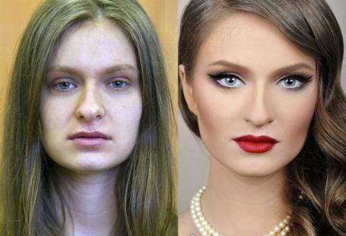 Корректирующий тональный крем, до и после: фото
