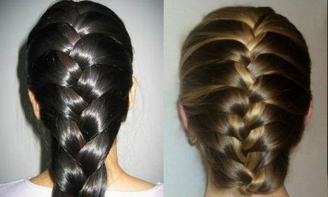 Прически с элементами плетения: простая «французская» коса, фото