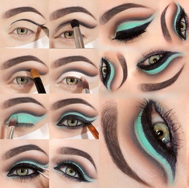 Blue eyed makeup