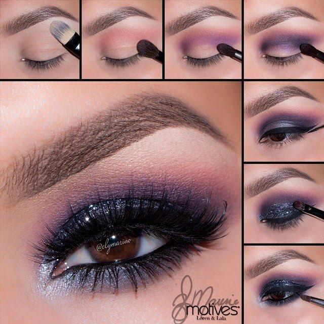 макияж черными тенями пошаговые фото