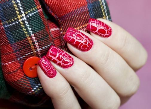 модный красный маникюр 2015, фото