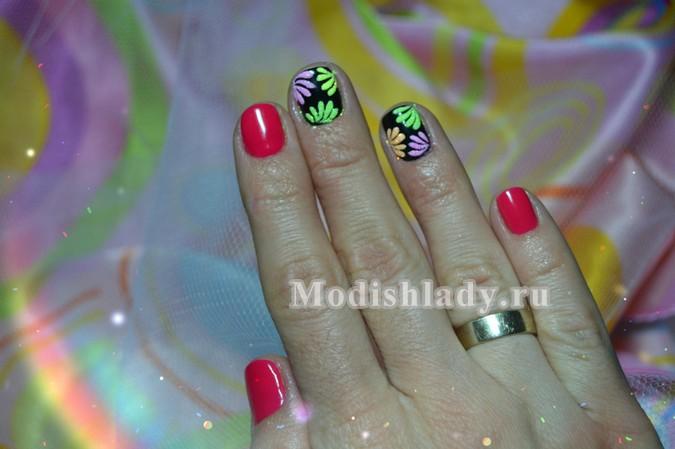 дизайн ногтей песком, фото