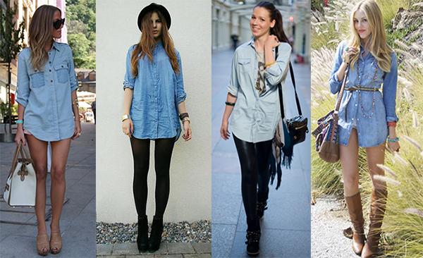Можно ли носить платье с джинсами
