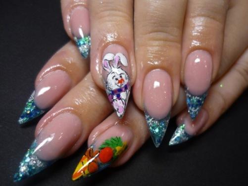зимний дизайн ногтей, фото