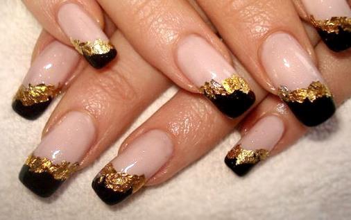 нарощенные ногти белый френч и рисунок фото
