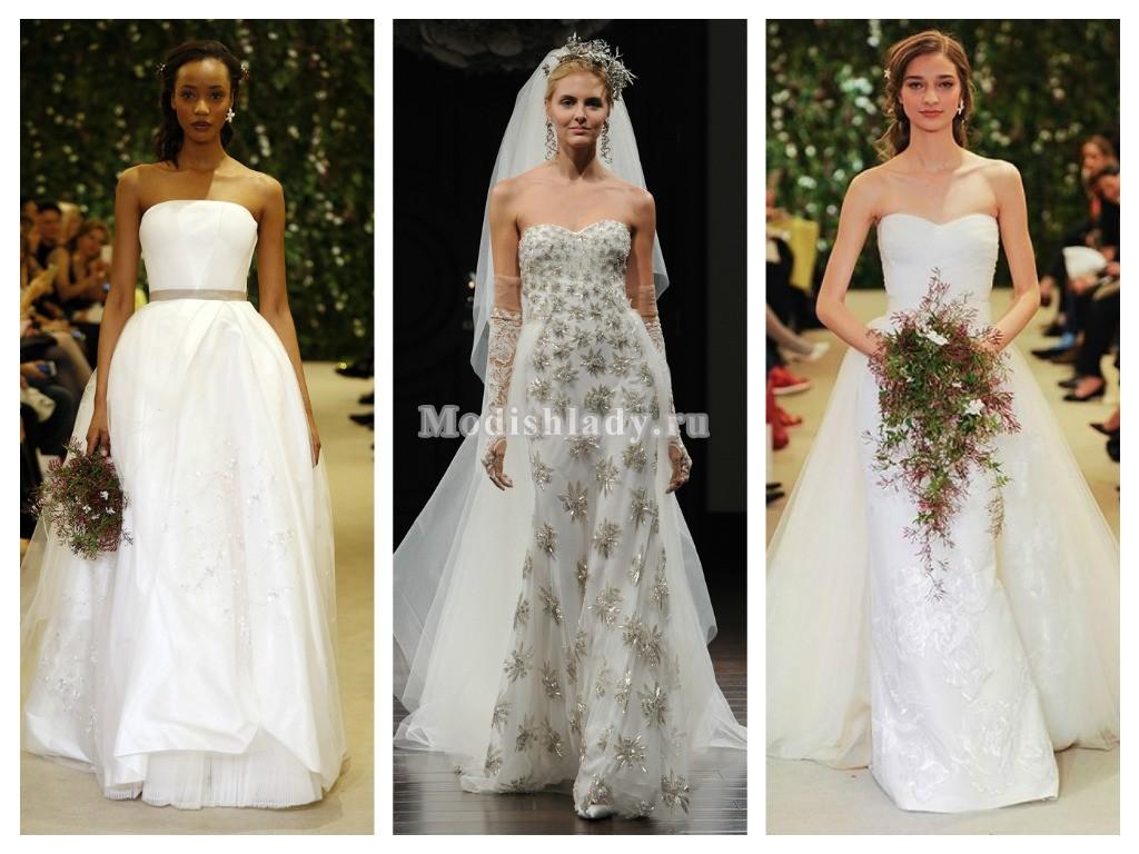 Свадебные платья бандо