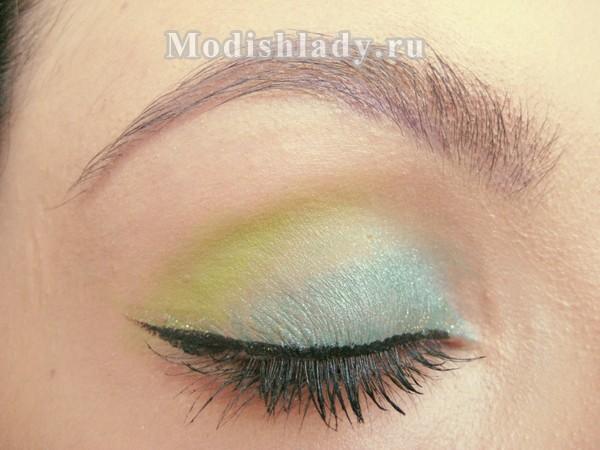 зеленый макияж .фото