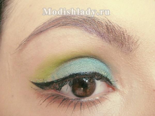 макияж с зелеными тенями, фото