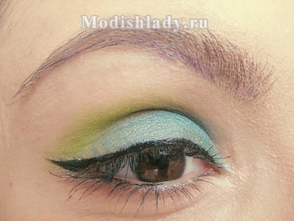 макияж в зелёных тонах, фото