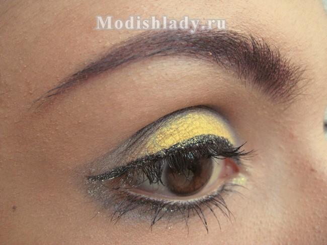 желтый макияж, фото