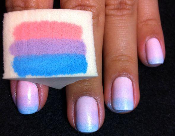 Маникюр на коротких ногтях в домашних условиях губкой