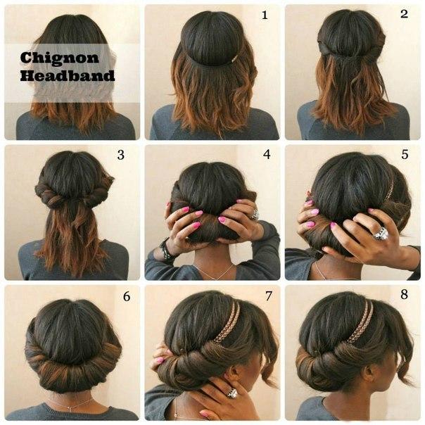 Прически на коротких волосах фото своими руками