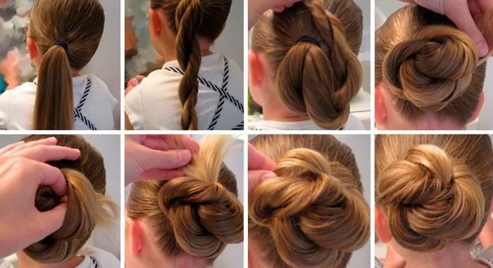 Прически на средние волосы в школу за 5 минут для девочек