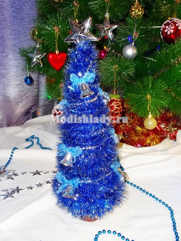 елка из мишуры, фото