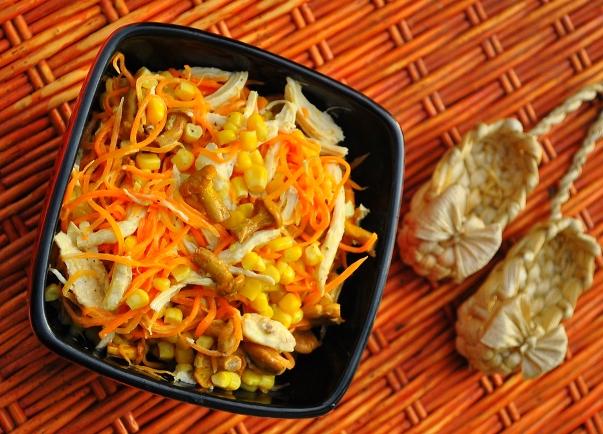 салат с морковью и опятами, фото