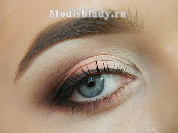 свадебный макияж для серых глаз , фото