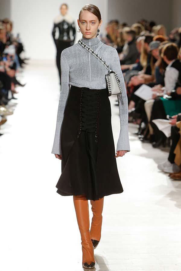модные юбки с завышенной талией осень-зима 2016-2017, фото
