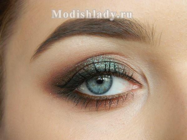Smokey eyes для серых глаз, фото