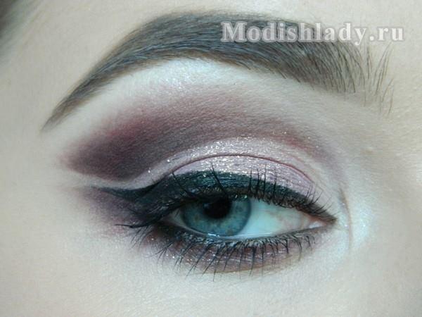 макияж глаз сиреневыми тенями, фото