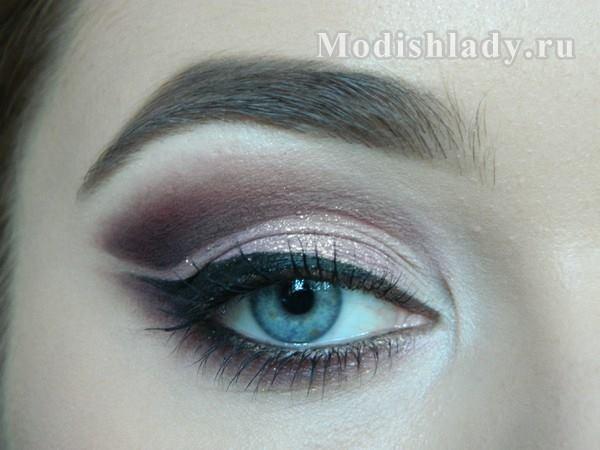 сиреневый макияж глаз на выпускной, фото