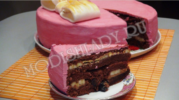 Шоколадно-шифоновый торт, фото