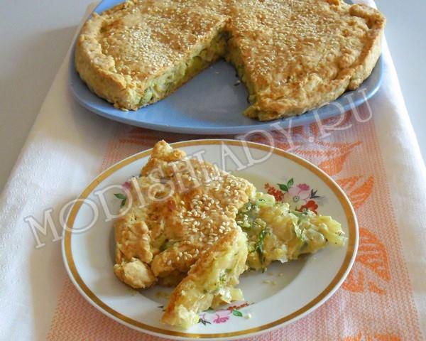 Песочный пирог с капустой, фото