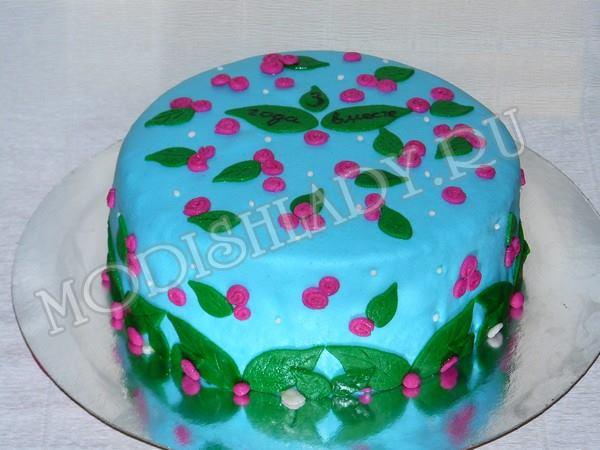 торт с розами из мастики, фото