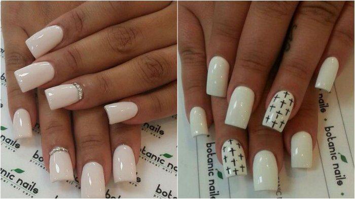 белые ногти маникюр, фото