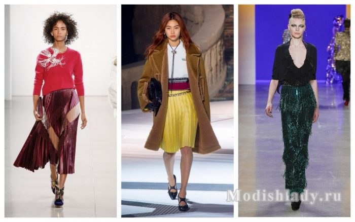 модные юбки осень-зима 2018 - 2019 фото